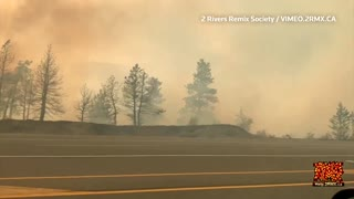 Wildfire guts small western Canada town