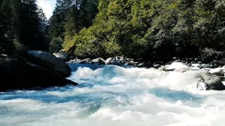 River rushing water with background music