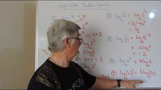 Math Logs 09 With Index Laws Mostly Years/Grade 10, 11 and 12 Academic Courses Logarithms