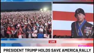 Trump.plays.Patton.speech.before.Alabama.Rally.6.21.21.Bronks