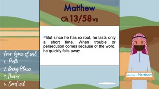 Matthew Chapter 13 (Jesus speaks here about what's happening right now.)