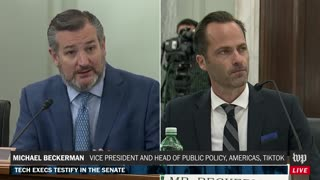 Ted Cruz HAMMERS TikTok Exec For Avoiding Question On Their Relationship With China