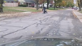 Michael Myers Gets Caught Taking Baby Boy On A Bike Ride