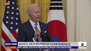 Biden Says Party Still Backs Israel Despite Infighting