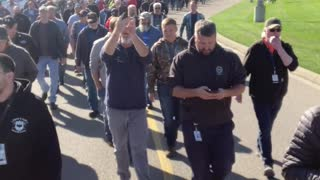 MUST SEE: 750 GE Federal Contract Workers Walk Out in Protest Against Vaccine Mandates in Ohio
