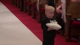 Kids add some comedy to a wedding! funny