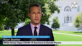 Adam Boehler says for donors to donate plasma