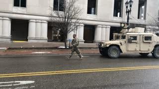 State Capitol In Michigan National Guard