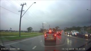Lightning Strikes Street Light