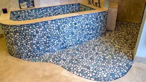Best Design Floor A BathRoom -3D Floors- A Pebble- Liquid - wooden Floor