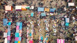 A simple Fish Fair of Bangladeshi Village