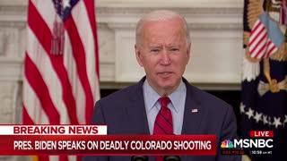 Biden Calls For Gun Control After Colorado Shooting