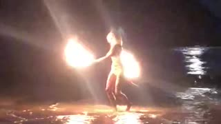 Fire Dancing at East Beach