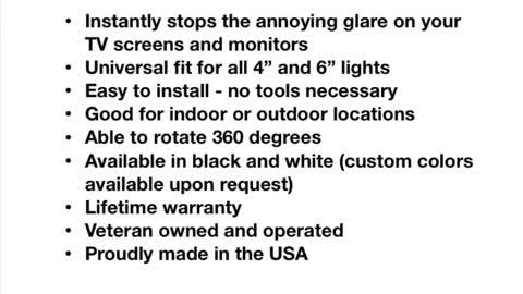 Glare Stops