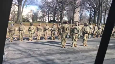 National Gauard Turns Back On Biden Motorcade!!