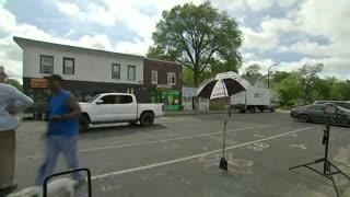 Gunshots Interrupt AP Reporter At George Floyd Memorial Square