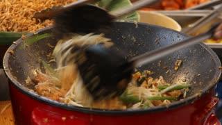 Pad Thai being prepared