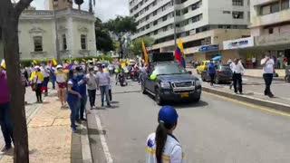 Marcha del Silencio en el Centro de Bucaramanga