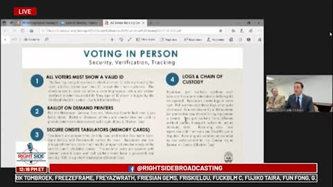 Part 5, Arizona State Senate Judiciary Holds Hearing on Election Fraud,12/14/20.