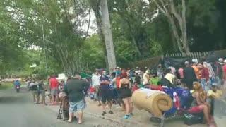 Video registra aglomeración de migrantes que buscan ayuda en Bucaramanga