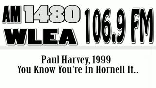 Wlea Archives, Paul Harvey, You Know You're In Hornell