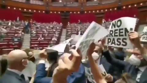 Meloni: Fratelli d'Italia in Aula contro l'obbligo del Green Pass (VIDEO)