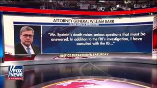 AG Barr raises questions about Jeffrey Epstein's death