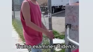 Trump examines the border (since Biden won't)