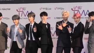 BTS entering on stage.