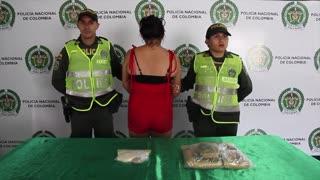 Mujer en estado de gestación fue capturada con gran cantidad de droga en Girón