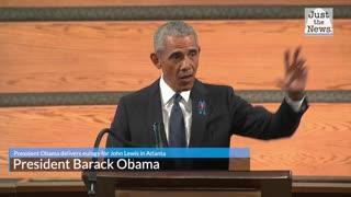 President Obama delivers eulogy for John Lewis in Atlanta