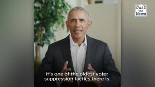 Former President Obama releases video message ahead of rally stop