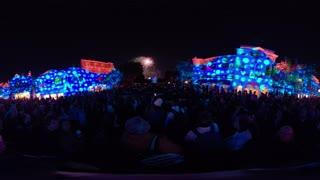 Main Street, U.S.A. Halloween Fireworks 2019 360