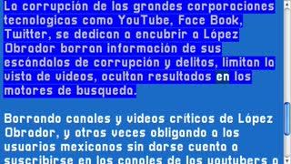 YouTube corrupto oculta violencia en México para favorecer la corrupción de AMLO