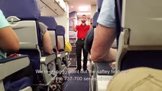 Funny Flight Attendant