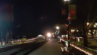 Strasburg Railroad train pulling into station