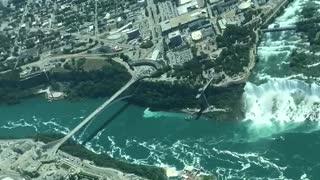 Niagara Falls from an airplane