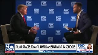 Trump reacts to Anti-American sentiment in schools