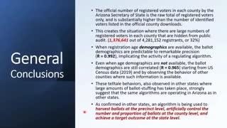 Arizona Election Data Breakdown