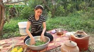 Yummy Pumpkin Fish Edible Amaranth Soup Recipe - Pumpkin Fish Edible Amaranth Soup Cooking