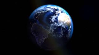 Planet Earth. Living planet