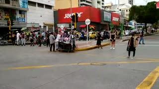 Estudiantes protestan en el centro de Bucaramanga