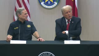 Former President Trump and Texas Governor Abbott participate in a border security briefing