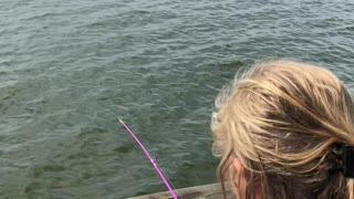 Kiddo Freaks Out Over Her First Fish