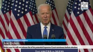 Biden on his SCOTUS nominees
