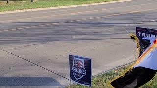 November 7, 2020, Sterling Heights Trump and John James Rally