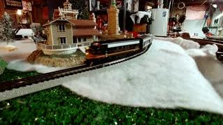 20 car N scale Freight train