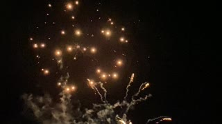 Local Fireworks Display at Christmas Time