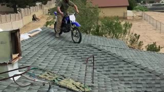 Motorcycle Jump into Pool