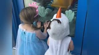 Socially Distanced Love from Donald Duck at Walt Disney World